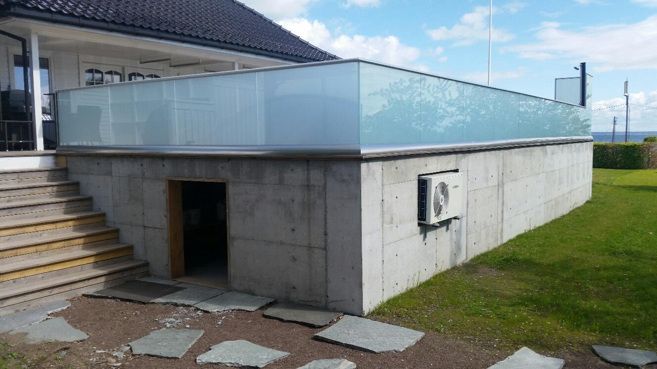 veranda med basseng